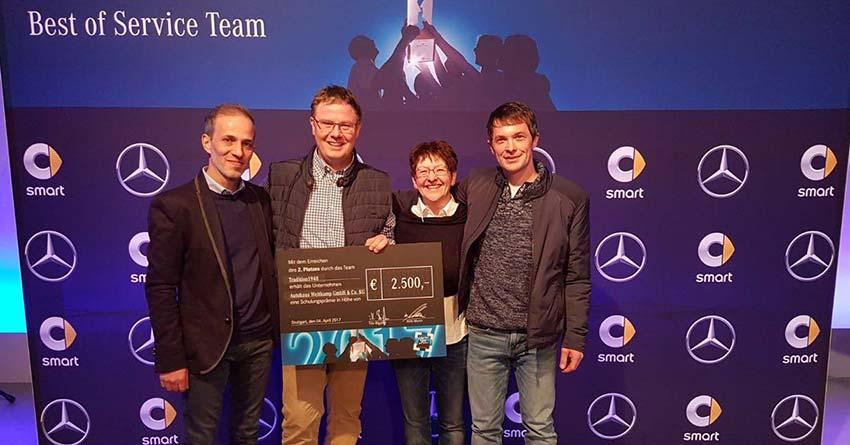 Mercedes-Benz Pkw Service: Zweiter Platz beim »Best of Serviceteam 2016«.