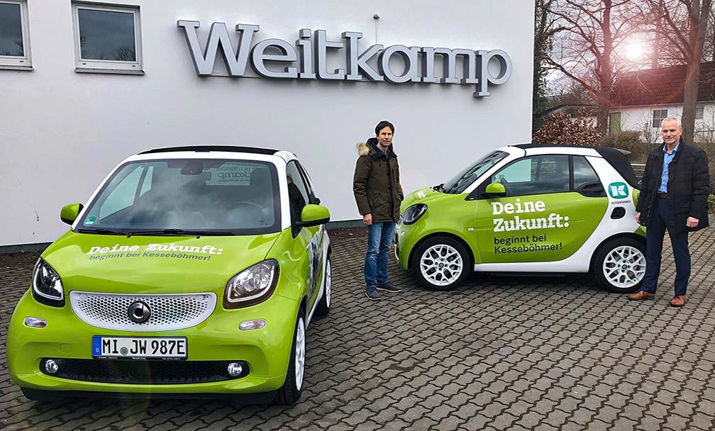 Zwei neue smart Mobiltätsfahrzeuge in Betrieb genommen.