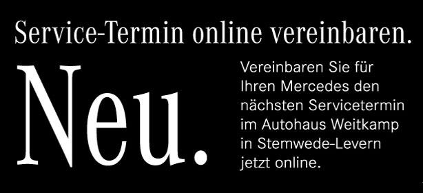 Jetzt Servicetermine online vereinbaren.
