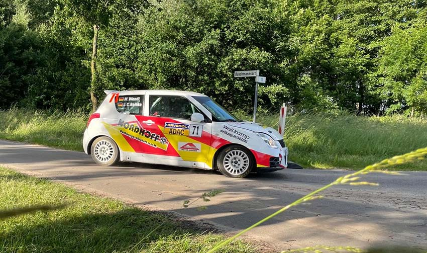 Max Wendt überzeugt bei Rallye-Debüt.